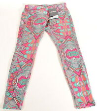 Asics Cleo Pop Barre Running Tights 124425 08 Tribal Print Sz. XS $75 E1C