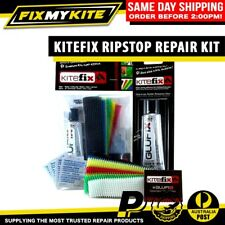 KITEFIX RIPSTOP REPAIR KIT TEAR KITEBOARD KITE SAIL CANOPY GLUEFIX ADHESIVE TUBE