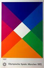 "Max Bill 1972 Munich Olympic Art Poster 25"" x 40"" Vintage *edition 3*"