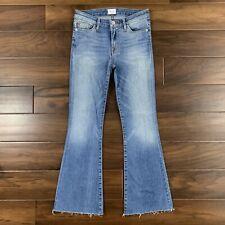 a69e7b7ede9 Hudson Womens Size 25 Mia Five Pocket Crop Flare Denim Jeans Raw Hem Mid  Rise
