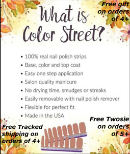 COLOR STREET Nail Strips - Free Tracked Shipping must buy 4 or more - Discounts!