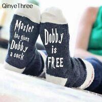 Women Wine Socks Dobby Is Free Cute Autumn Spring Funny Socks 2018