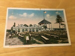 Crescent Park  RI ~ Band Stand and DINING PAVILION  ~ c1915  Postcard