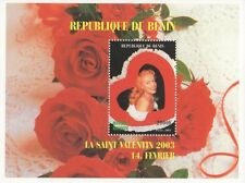 MARILYN MONROE VALENTINES DAY 2003 REPUBLIQUE DU BENIN MNH STAMP SHEETLET