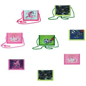 Kinder Geld Beutel Börse Brustbeutel rosa grün Umhänge Sicherheitsschlaufe neu