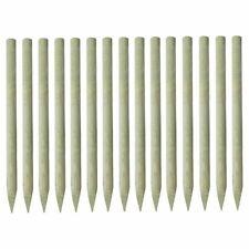 Poteau de clôture pointu 15 pcs Pin imprégné 4 x 150 cm A9D5