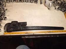 "Vintage Trimo Mfg Co Size 24"" Pipe Wrench! 1918 Patent! Great Condition! Mass!"