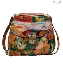 Patricia Nash VENETO Leather Crossbody Bag MULTI PRINT nwt