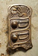 Geschenknet Antik Messing Klingel 2 Jugendstil Klingelschild Klingelplatte  K17A