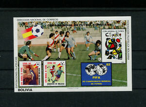 Bolivia 1982 Soccer/Football World Cup  Michel BL 124-25 Set of Souvenir Sheets