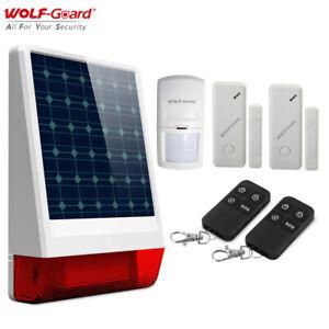 Wireless Home Alarm Burglar System Outdoor Solar Siren Door PIR Sensor Detector