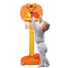 Adjustable Kids 3-in-1 Sports Activity Center Tiger Basketball Hoop with Balls