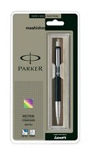 LOT IN Parker Vector Standard Chrome Accents Blue Ball Pen (Black Body)