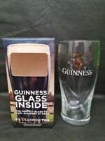 Guinness Rugby Boxed Beer Glass With Gold Coloured Harp Logo 16oz 450ml Glass
