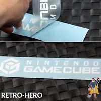 Gamecube Aufkleber Logo Sticker NINTENDO KONSOLE Weiß NGC Label decal 17 x 3,8cm
