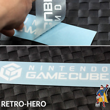Gamecube Aufkleber Logo Sticker NINTENDO KONSOLE Weiß NGC Label decal 17 x 3,8cm