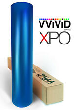 Blue Satin Chrome VViViD XPO 100ft x 5ft film stretch car wrap vinyl sheet roll
