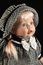 "Cathay Collection 21"" Porcelain Seating Baby Doll Blonde LTD #0282/5000"