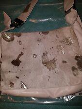 Marco Buggiani Italy Leather Ivory Calf Hair Shoulder Handbag