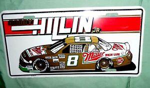 Bobby Hillin Jr. ,Miller Beer Nascar Racing Metal License Plate