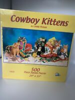 500 piece jigsaw Puzzle Cowboy Kittens Sunsout new sealed Suns Out Christmas