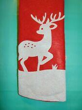"REINDEER Felt Christmas Tree Skirt 38"" (96.5 cm) 3 Deer Silhouette NEW w/ Tags!"