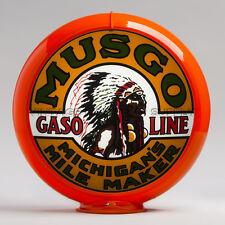 """Musgo 13.5"""" Gas Pump Globe w/ Orange Plastic Body (G153)"""