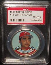 PSA 9 MINT 9 - #41 John Franco 1988 Topps Coins Cincinnati Reds