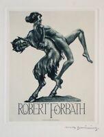 Max Brüning - Ex Libris für Robert Forbath - Radierung - o. J.