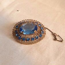 Paste and Filigree Wire Brooch