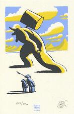 MATTOTTI : ex-libris GRANDS DIEUX - Super Héros - sérigraphié - numéroté & signé