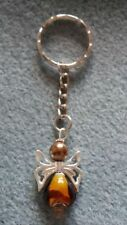 HANDCRAFTED GUARDIAN ANGEL CHARMS KEYRING BAGCHARM TEACHER GIFT BROWN