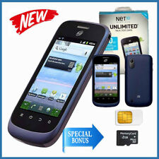 New! Net10 Wireless ZTE Midnight Z768G Smartphone - Sim card/SD Card 2G included