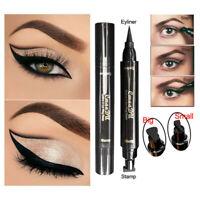 Double Ended Eyeliner Pencil Waterproof Beauty Makeup Wing Shape Black Eye Liner