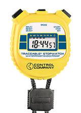 CONTROL COMPANY 1042 WATERPROOF TRACEABLE STOPWATCH
