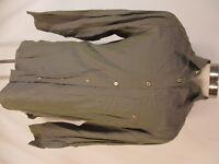 Ermenegildo Zegna Mens Green Check Long Sleeve Rayon Shirt S Italy Made