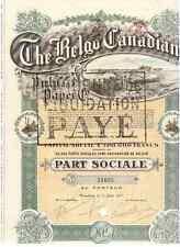 Belgo Canadian Pulp and Paper Co. 1917 DEKO