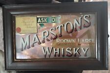 """OLD """"MARSTONS"""" BROWN LABEL WHISKEY MIRROR, SIZE 55cm x 35cm ,SEE PICTURES"""