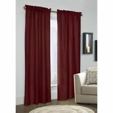 "Thermalogic Prescot Insulated Pinch Pleat Drapes, 48""x63"", Burgundy, Pair"