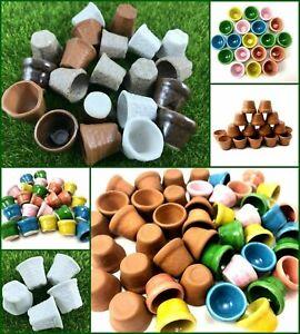 Terracotta Pot Clay Miniature Dollhouse Fairy Garden plant terrarium supply