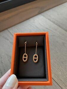 Brand New Hermes Farandole earrings Rose Gold Retail 2k