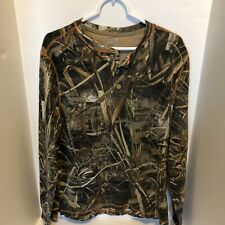 Realtree Long Sleeve Shirt, Large, Camouflage, Cotton/polyester