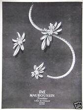 PUBLICITÉ 1948 MAUBOUSSIN JOAILLIER - ADVERTISING