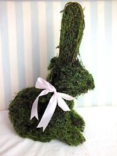 Pretty Moss Easter Bunny*Rabbit*Hare*Twigs*Figure/Statue*Spring*Green*Indoor*New
