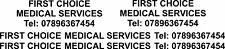 Prima scelta Medical VINILE Lettering Decalcomanie Adesivi Grafica AMBULANZA PARAMEDICO