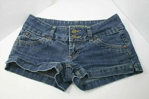"Arizona Jean Co Womens Juniors Size 0 Shorts 2.5"" Inseam Flap Button Pockets EUC"