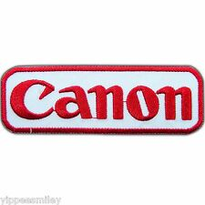 Canon Logo Camera Sew Iron on Patch Embroidered Jacket Shirt Bag Cap Vest #0146