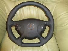 TUNING AMG Mercedes W211 S211 E-Klasse Lederlenkrad Lenkrad UNTEN ABGEFLACHT(18)