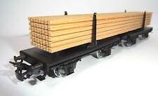 Märklin HO 4665 - Drehschemelwagen mit Holzladung-TOP- freight car + timber load
