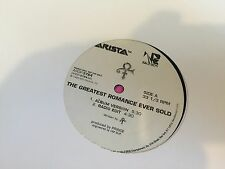 "PRINCE THE GREATEST ROMANCE EVER SOLD 12"" 1999 ARISTA ARDP 3764 PROMO"